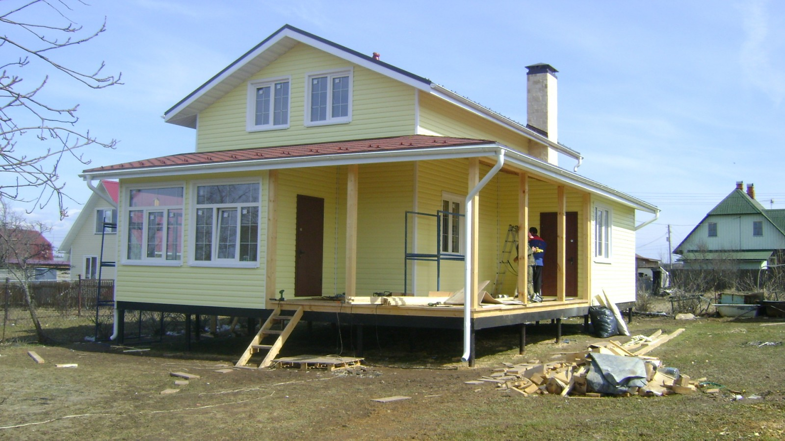 готовые дома на сваях цены
