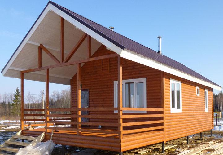 Как построить дачный дом с баней 13